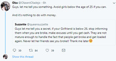 "Newly married man advises and gives reasons ""Guys, avoid girls below the age of 25"" (baydorzblogng) Tags: nigeria news africa international celebrity gists other education fashion"