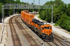 The End is Near (Russell_Honey) Tags: emd gp30 gp39e bnsf kcs kansascity containertrain transfer railfan railroadphotography schneider