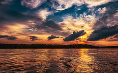 Sunset on the lake (Steppenwolf33) Tags: sunset clouds lake evening dawn water sky steppenwolf33 köpenick