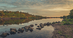 On the banks of the River Trent (again) (Ian Emerson (Thanks for all the comments and faves) Tags: rivertrent hoveringham nottingham walking lateevening water river rocks canon6d reflection clouds outdoor