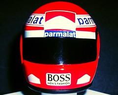Niki Lauda F1 racing helmet 1/8th scale. (Ledlon89) Tags: crashhelmet racinghelmet f1 grandprix formulaone nikilauda lauda laudaair parmalat boss mclaren