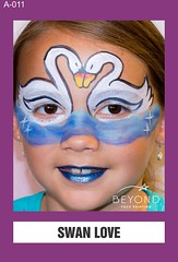 A-011 SWAN LOVE (BEYOND Face Painting) Tags: animal animals beyond bfp originals bird birds