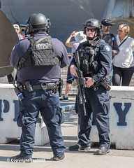NYPD Counterterrorism Police Officers, Pier 86, New York City (jag9889) Tags: 2019 20190522 barrier beton ctb car clinton concrete cop counterterrorism finest firstresponder gear hudsonriver intrepidmuseum lawenforcement manhattan ny nyc nypd newyork newyorkcity newyorkcitypolicedepartment officer outdoor patrol pier86 police policecar policedepartment policeofficer policepatrolcar usa unitedstates unitedstatesofamerica vehicle jag9889 weapon
