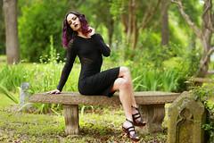 img_4569 (steevithak) Tags: cemetery modeling model blackdress purplehair blacklips darkbeauty graveyard greenwoodcemetery dallas texas tx