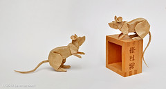 "Gossiping Mice or ""Sorry, no more sake"" ... :-p (cavemanboon*) Tags: boon ronaldkoh ロナルド・コウ mouse ネズミ 鼠 折り紙 origami paperfolding cavemanboon singapore malaysia 羅納德・許 rat"