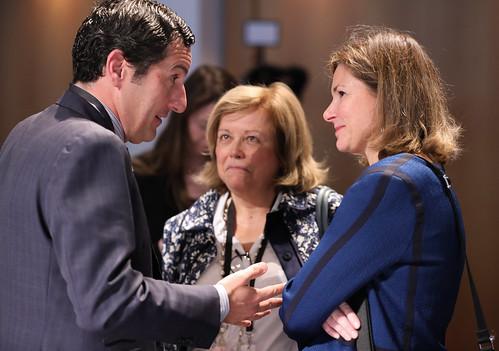 Enrique Medina Malo, Matilde Fernandez-Balbin and Maria José Rallo Del Olmo at the ministerial meeting