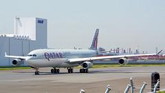 Airbus A340-313, A7-AAH, Qatar Amiri Flight (tkosada.mac) Tags: qatarairways qataramiriflight airbus a343 tokyointernationalairport hanedaairport hnd rjtt