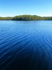 Almost Summer (pjen) Tags: finland nordic nature spring summer lake forest mtb trail water blue sky waves