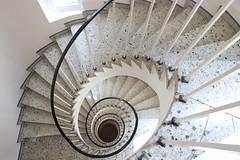 New Spiral (Elbmaedchen) Tags: spirale architecture stairs steps stairwell treppe staircase architektur escaleras stufen escaliers treppenhaus treppenstufen treppenauge hotel hamburg sanktpauli