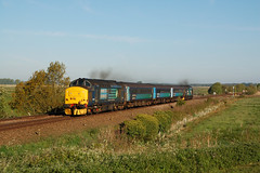 37405-37716 Cantley (mattcareyphotography) Tags: drs class 37 37405 37716 anglia norfolk nowrich loco hauled short set cantley marshes rspb lowestoft 5j67 ecs
