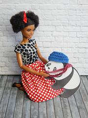 Minnie and the #goodpandacontest (Levitation_inc.) Tags: goodpandacontest doll clothes ooak handmade dolls photography made move barbie panda flickr levitationfashion levitation