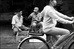 . (Out to Lunch) Tags: ba chieu market binh thanh district saigon ho chi minh city vietnam urban urbanite street blackwhite commerce small business girl bicycle fuji xt1 xf1256r happyplanet asiafavorites