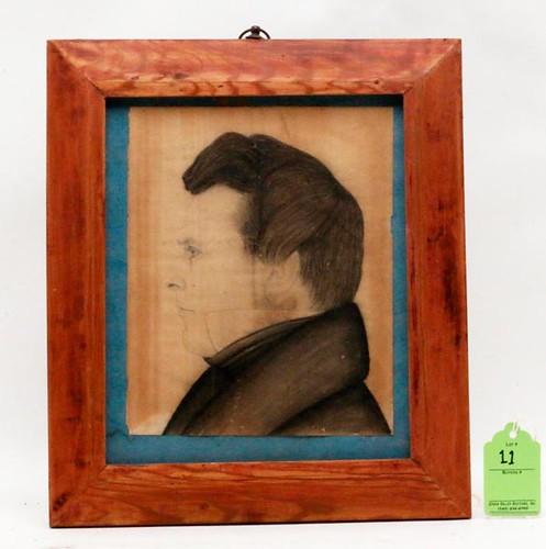 19th c. Shenandoah Valley Profile Portrait ($1,176.00)