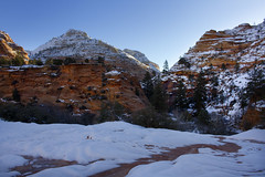 Slickrock in Zion National Park, east side, Utah, USA (swissuki) Tags: zion national nationalpark nature park mountain landscape largelandscape snow sky usa ut utah