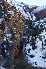 Zion National park, entrance to the tunnel, Utah, USA (swissuki) Tags: zion national nationalpark nature park landscape largelandscape mountain sky snow ut usa utah