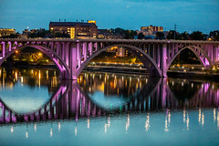 Evenings on the Tennessee River (Thomas Hawk) Tags: america henleystreetbridge knoxville tennessee tennesseeriver usa unitedstates unitedstatesofamerica bridge river fav10 fav25 fav50
