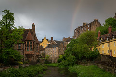 After The Rain.jpg (Attapp) Tags: edinburgh deanvillage rainbow scotland yellow storm sky river leith