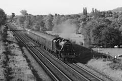 44871 LMS Stanier Class 5 4-6-0 (1945) (Roger Wasley) Tags: 44871 lms stanier class5 460 black5 steam locomotive trains railways heritage preserved preservation bw mono blackandwhite monochrome gloucestershire
