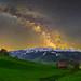 Alt Sankt Johann milky way panorama
