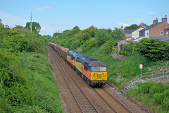 56090&049-PipersAsh-23.5.19 (shaunnie0) Tags: 6j37 grid class56 chirklogs colas colasfreight colasrailfreight 56090 56049