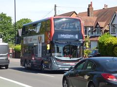 NXWM Platinum bus on the 6 on the Stratford Road, Hall Green (ell brown) Tags: hallgreen birmingham westmidlands england unitedkingdom greatbritain stratfordrd stratfordrdhallgreen tree trees bus nxwm nationalexpresswestmidlands nationalexpresswestmidlandsplatinum 6 nikki
