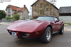 Chevrolet Corvette C3 (Monde-Auto Passion Photos) Tags: voiture vehicule auto automobile chevrolet corvette c3 coupé red rouge ancienne classique rare rareté collection rassemblement france courtenay