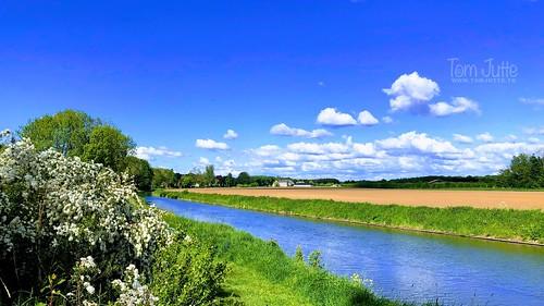 Walking along the river Kromme Rijn near Odijk, Netherlands - 2619