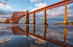 Forth Bridge Reflections (Dibbly Dobbler) Tags: sonya7rii 1635f4 forthbridge forthrailbridge reflections sunset