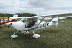 G-CIBZ (IndiaEcho) Tags: gcibz aeropro eurofox eghp popham airport airfield light general civil aircraft aeroplane aviation basingstoke hampshire england canon eos 1000d microlight fly in 2019