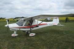 G-CICF (IndiaEcho) Tags: gcicf ikarus c42 eghp popham airport airfield light general civil aircraft aeroplane aviation basingstoke hampshire england canon eos 1000d microlight fly in 2019