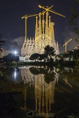 Sagrada familia Barcelona - ver.vertical (Lorenzo Rovira) Tags: barcelona gaudi gaudí catalunya cataluña nocturna noche modernismo cultural canon6d canon cielo estrellas ciudad