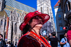 Red Hat (Michael Goldrei (microsketch)) Tags: portrait leicam eu street austria mai darkness 35mm red photos summer leica face st faces photography cathedral stephansdom stephans mp240 may dom basking photo shadow mp shadows österreich shade leicacamera european asph photographer austrian vienna hat woman light sommer 2019 19 leicamtyp240 typ typ240 240 summilux fancy leicalovers 35 europe 14 wien