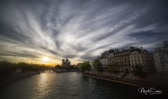 Moody Notre-Dame (marko.erman) Tags: notredame paris france iledelacité unesco worldheritagesite architecture cathedral gothic church monument history religion seine river bridge banks pontdelatournelle sunset mood lateafternoon moody dreamy beautiful clouds sony sky pov uwa ultrawideangle skyscape travel popular outside