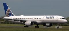 Boeing 757-224 N41140 (707-348C) Tags: dublinairport dublin eidw passenger airliner jetliner boeing boeing757 n41140 unitedairlines united ual b752 rollsroyce ireland 2019 dub