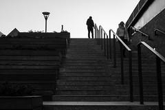 untitled (gregor.zukowski) Tags: gdańsk gdansk street streetphoto streetphotography blackandwhite blackandwhitestreetphotography bw urban monochrome stairs fujifilm