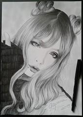 Kosuke (Giovana Draw/ デザイン) Tags: black white illustration grey gray portrait desenho jrock visual kei draw