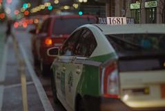 Checker Cab 1681 (Jovan Jimenez) Tags: ai plustek opticfilm 8200i canonelan7ne film zeiss 35mm canon image kodak hasselblad carl pro 100 elan f28 planar 80mm 7ne taxi bokeh 7s tiltshift 30v 33v street chicago analog streetphotography analogue city inner numbers