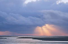 God light on the Gulf of Mexico (MJRodock) Tags: gulfofmexico sunlight clouds godlight olympus em5markii mzuiko digital ed 1240mm f28