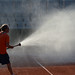 Watering the court