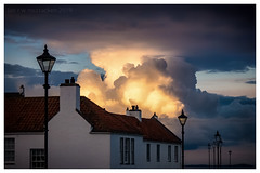 Luminance (ianrwmccracken) Tags: lamp building cumulus street reflection sony dysart evening luminance drama fife scotland panha house contrast sky kirkcaldy a6000 riverforth cloud sunlight kit lens