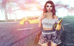 Where I wanna be.. (Sistine Kristan (Sisely) - Toolbox Chicks) Tags: blog photography fashion sl secondlife flora event ersch mesh maitreya kibitz inkhole banana ddl sugarbun hairclips la backdrop cosmopolitan