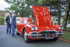 Little Red Corvette (vtom61) Tags: corvette chevy chevrolet triplexrootbeer bronicaetrsi bronica red car fujiprovia fujifilm provia100f mediumformat