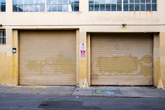 Alley Garages 1 (sean-phillips) Tags: fujifilm xf23mmf2 23mmf2 xe3 street buildings city