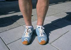 Nice Shoes (Gulf Oil Livery) (vtom61) Tags: shoes gulfoil exoticsrtc bronicaetrsi provia100f fujifilm fujiprovia mediumformat 120 120film shoelaces