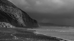 Storm's a Com'n (Rand Luv'n Life) Tags: odc our daily challenge torrey pines state beach san diego california storm clouds natural light cliff illumination erosion rocks sea foam waves ominous people monochrome black white outdoors