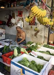 Banana Man Naping (cowyeow) Tags: man old shirless sleeping candid nap napping gross weird funny shop china chinese asia asian city kowloon kowlooncity hongkong 香港 fruit fruitshop market fruitstand street bananas