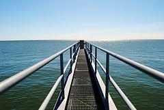Out to Lake Michigan (Cragin Spring) Tags: milwaukee milwaukeewi milwaukeewisconsin wisconsin wi city midwest unitedstates usa unitedstatesofamerica pier lake water greatlakes lakemichigan