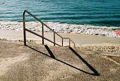 shark beach, april 2016 (kodacolorframes) Tags: nsw sydney vaucluse beach summer pentaxlx fujiproplusii100 film 35mm shadow stilllife