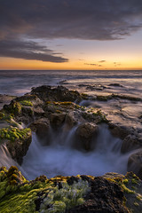 The Siren (Explored) (Ramen Saha) Tags: sinkhole blowhole kailuakona hawaii hawaiʻi limu bigisland wawalolibeach wawalolibeachpark keaholepointblowhole ramensaha twilight twilightreflections ocean sunset sunsetcolors sunsetreflections