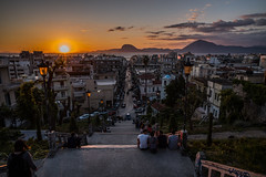 City by the sea...... (Dafydd Penguin) Tags: patras city town urban steps sea sunset people street water peloponnese greece gulf leica m10 21mm super elmar f34 asph